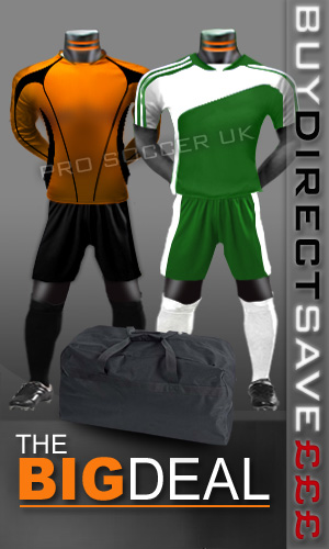 Striker II Short Sleeve Junior/School Football Kit Pack
